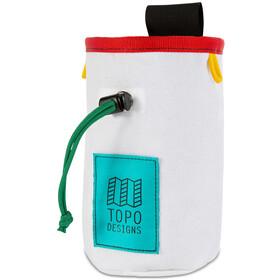Topo Designs Bolsa de Tiza, blanco/rojo